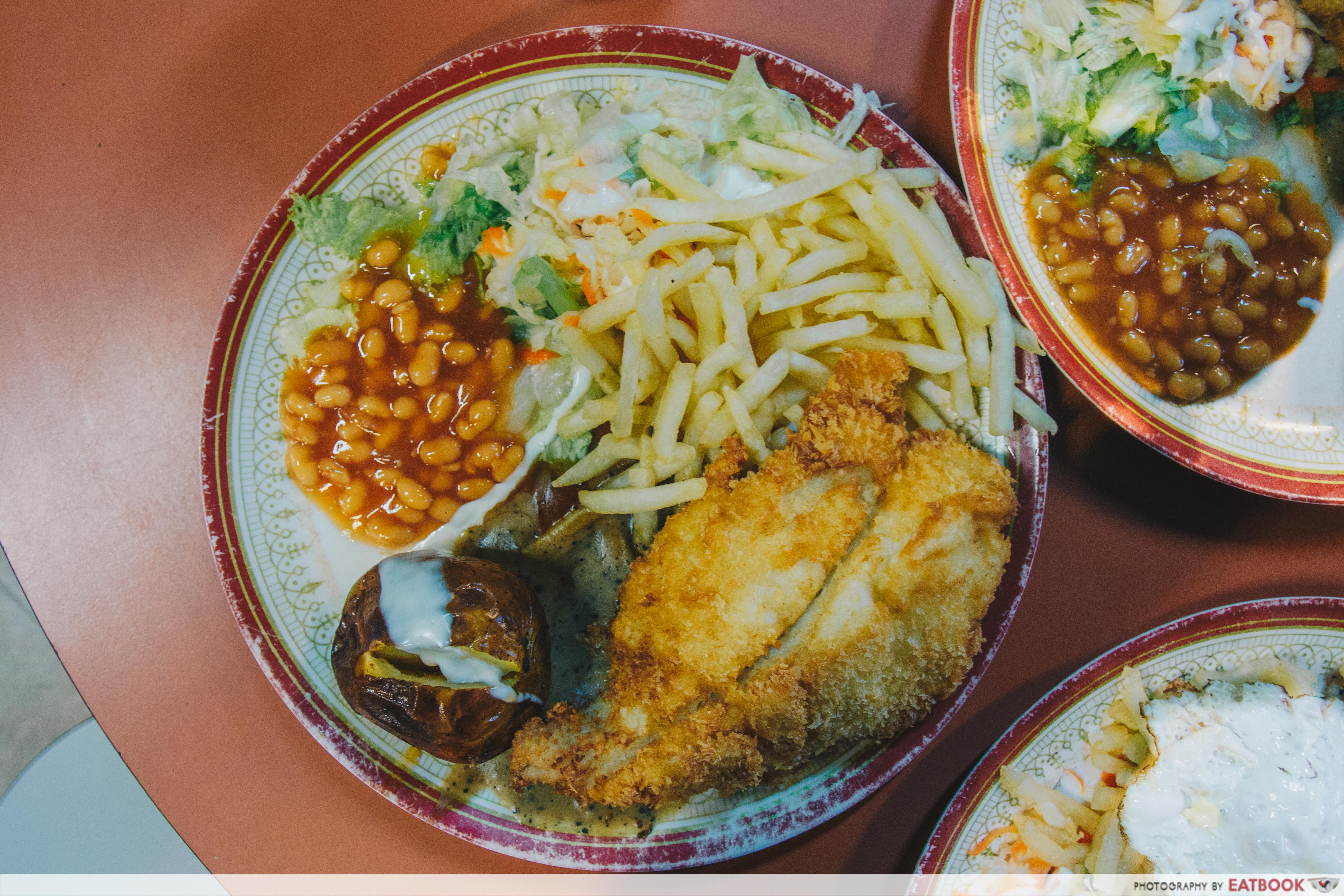 chef hainanese western food- fish and chips