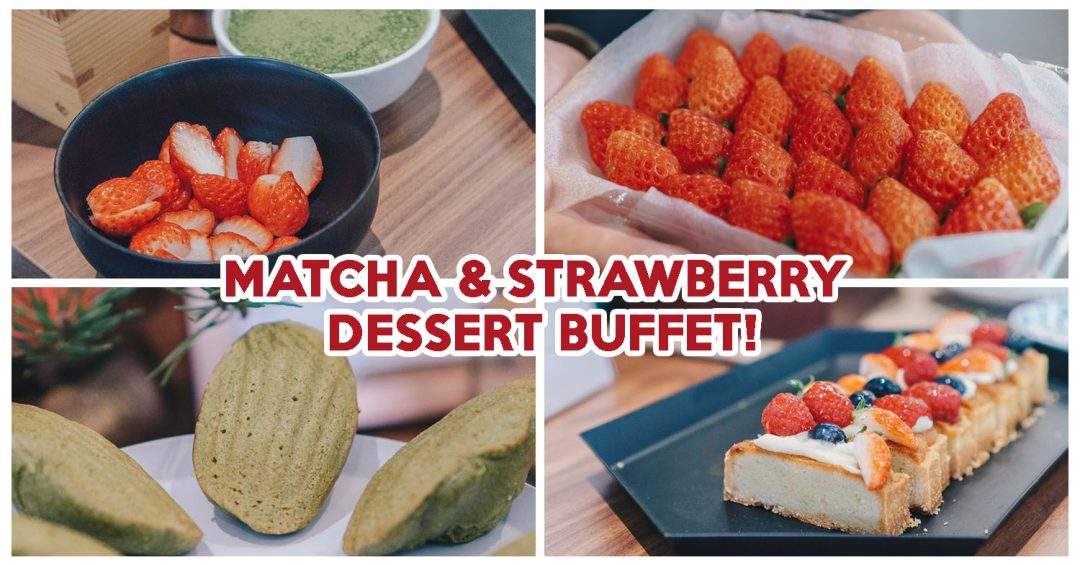 green tea matcha buffet cover