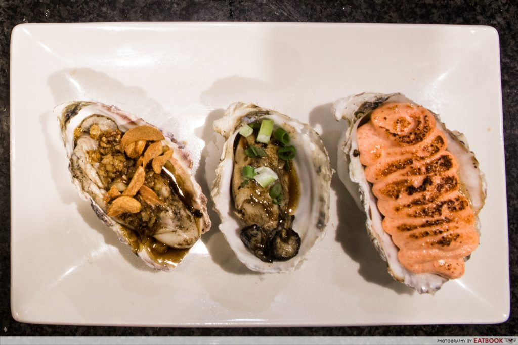 mentaiko dishes - oyster