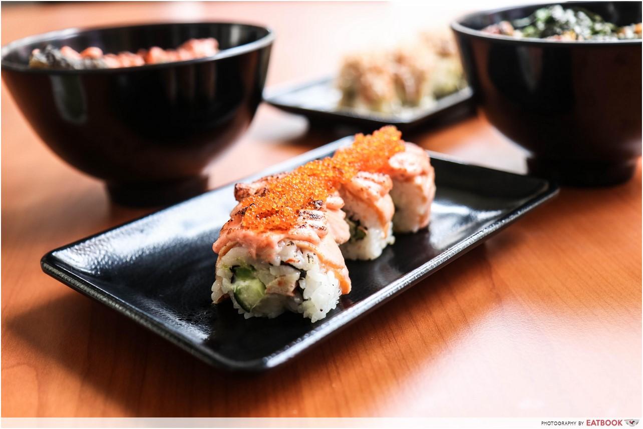 mentaiko dishes - sushi