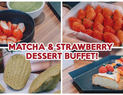 green tea matcha buffet cover