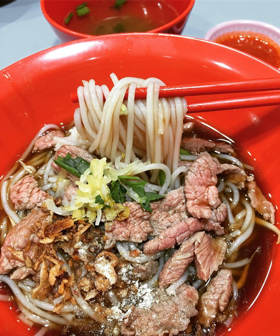 amoy street food centre- hong kee beef noodles