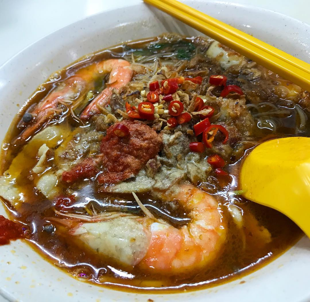 ang mo kio food- penang delights prawn mee