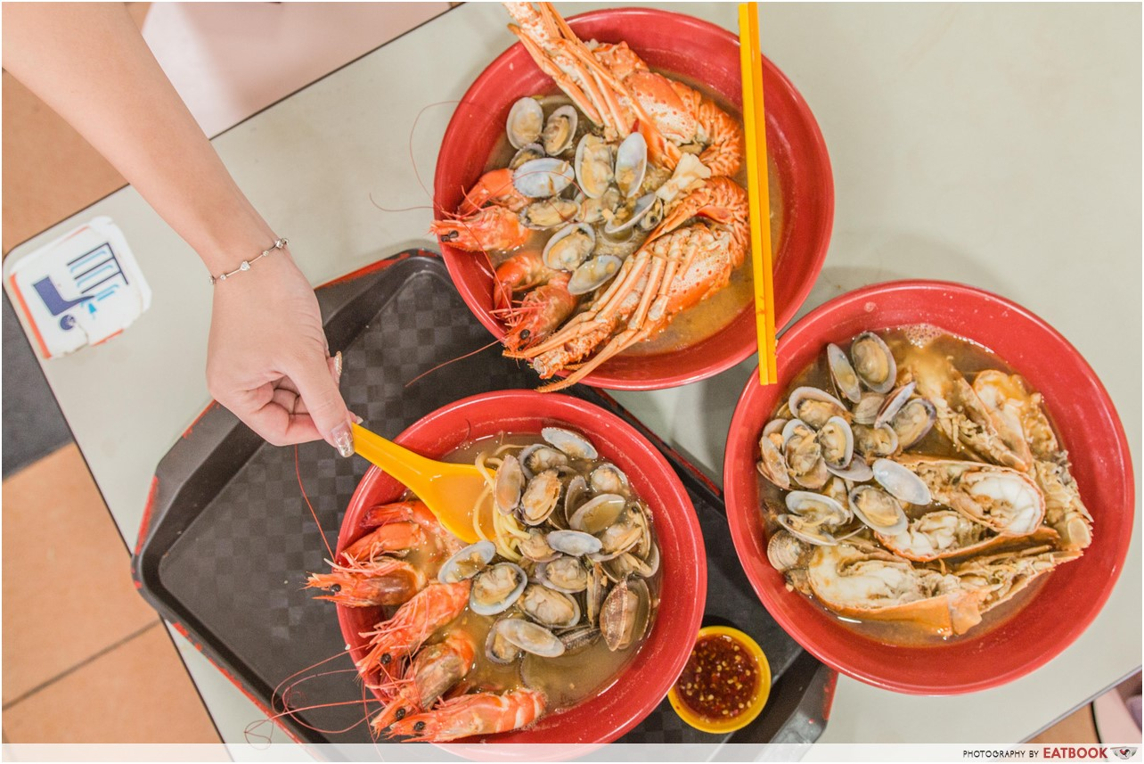 ang mo kio food- sumo big prawn