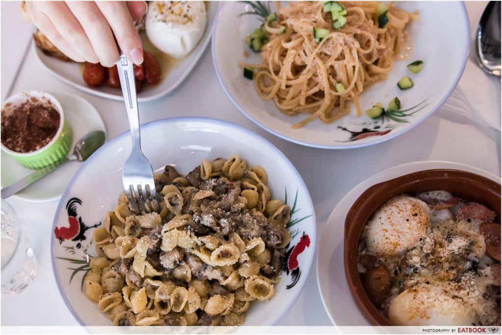 bugis food ah bong italian