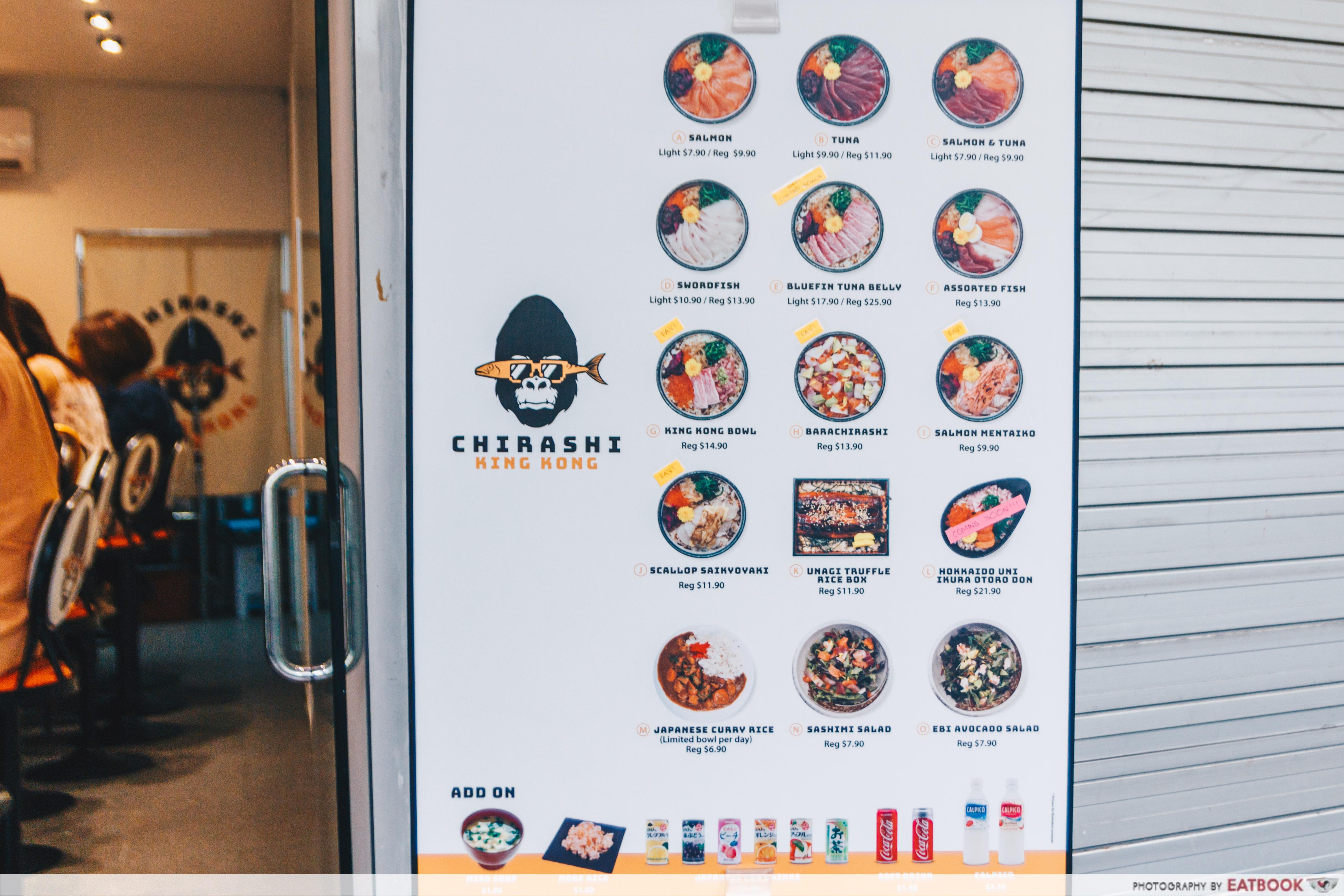 chirashi king kong singapore menu