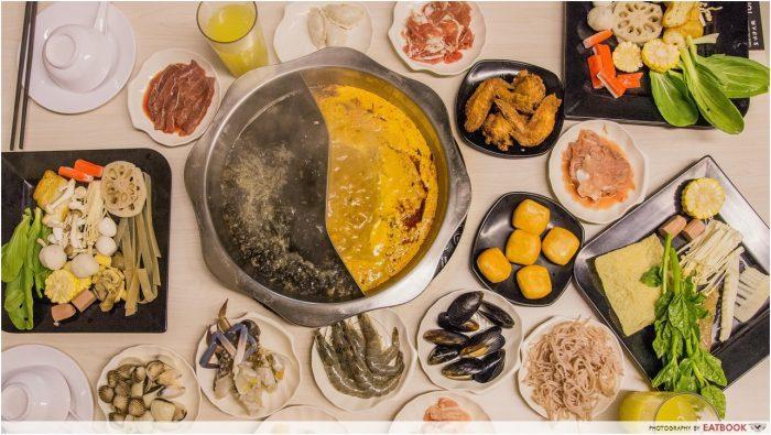 serangoon food king's laksa steamboat