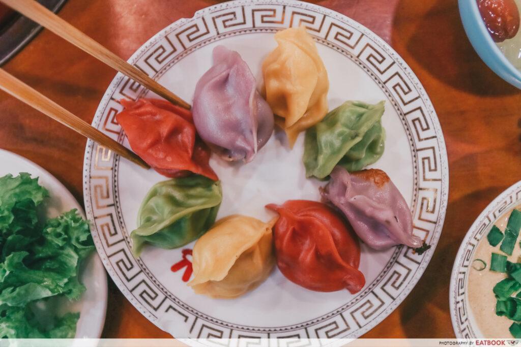 yi qian ling yi ye steamboat buffet - colorful dumplings