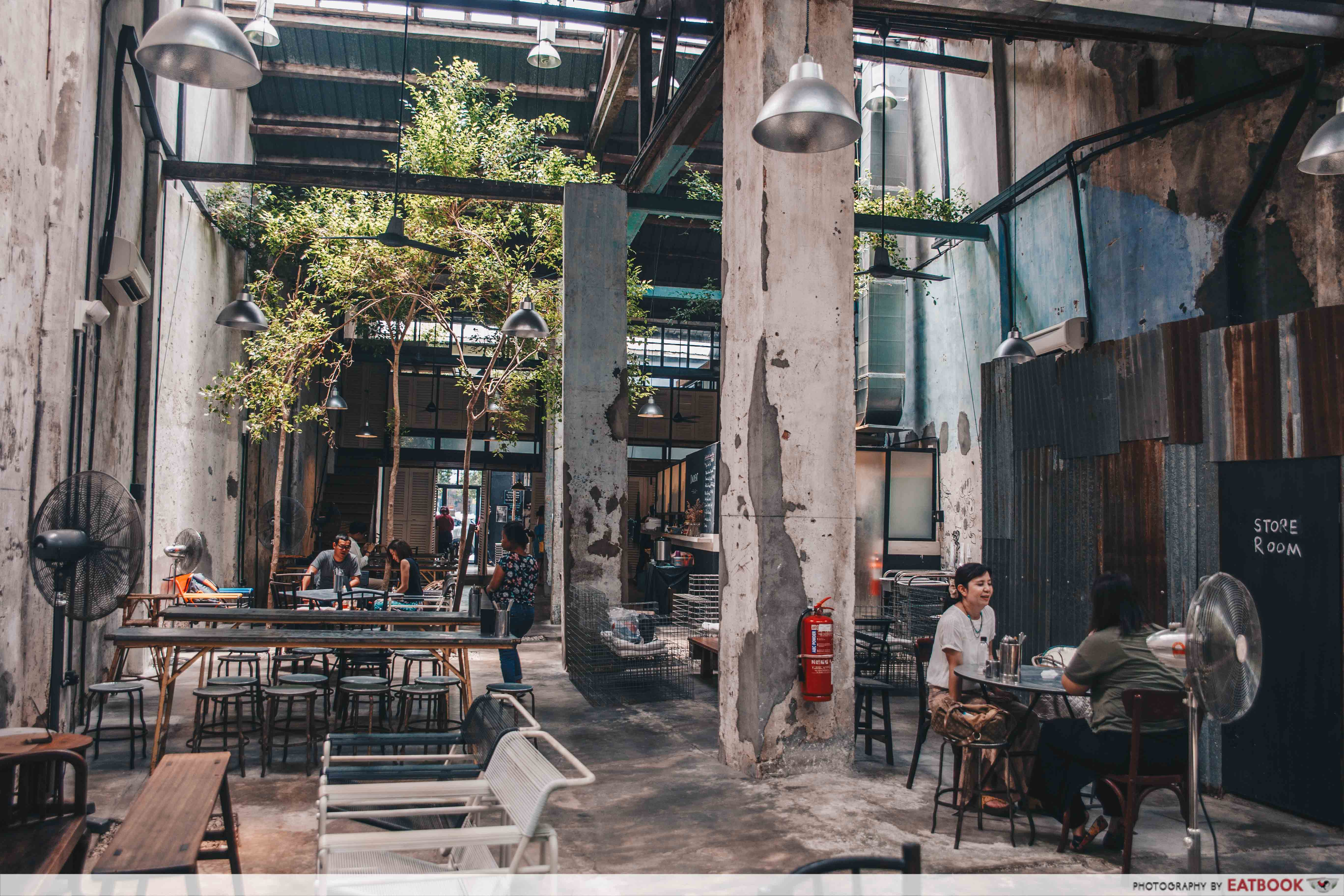 Cafes in Penang - Awesome Canteen Ambience