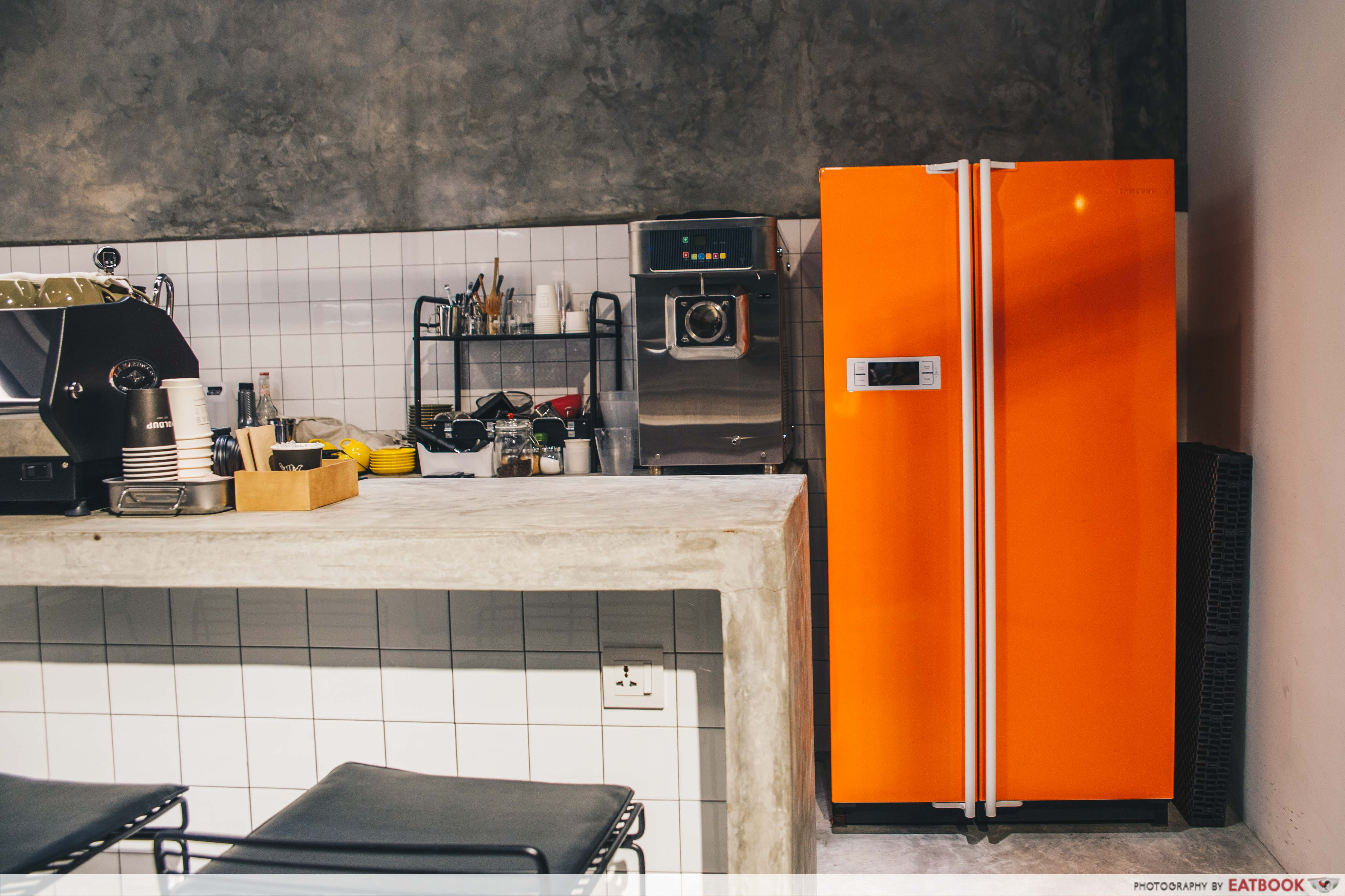 Cafes in Penang - Out of Nowhere Orange Fridge