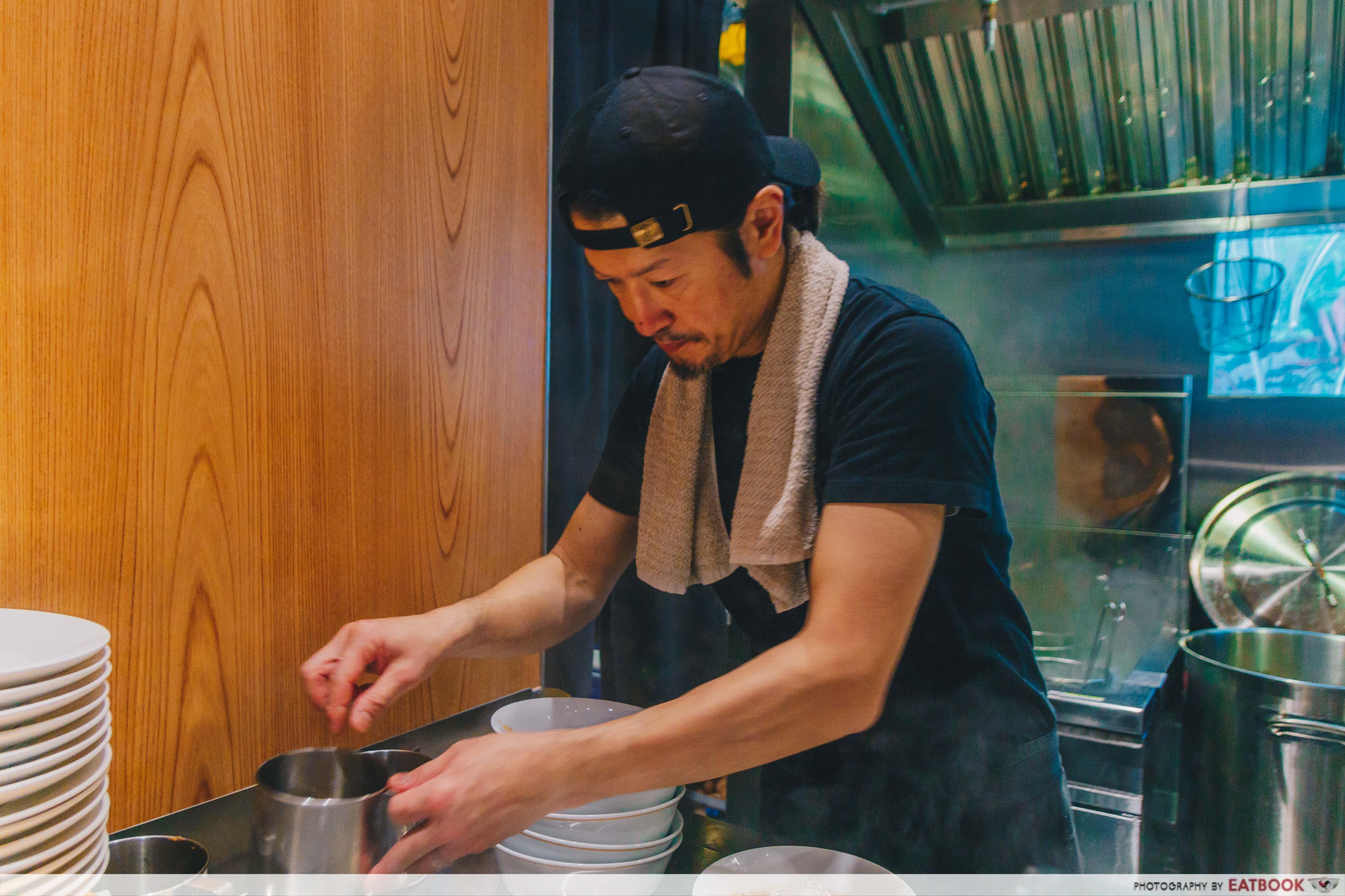 Konjiki Hototogisu Ramen - Chef Mr Yamamoto