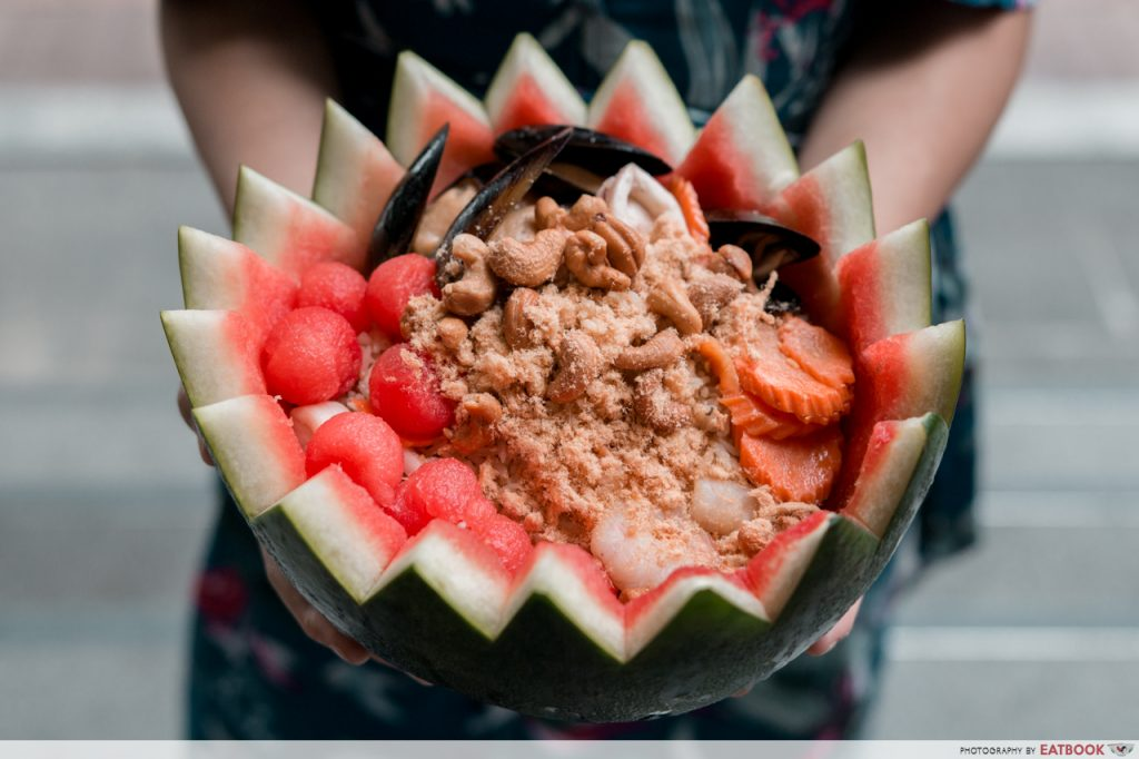 Quayside Isle Food Gin Khao Bistro Watermelon Rice