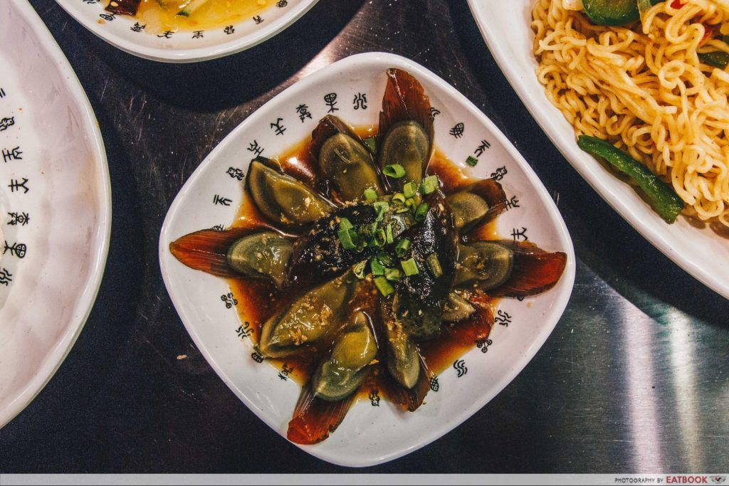 The Hungry Caveman Century Egg with Marinated Ginger)