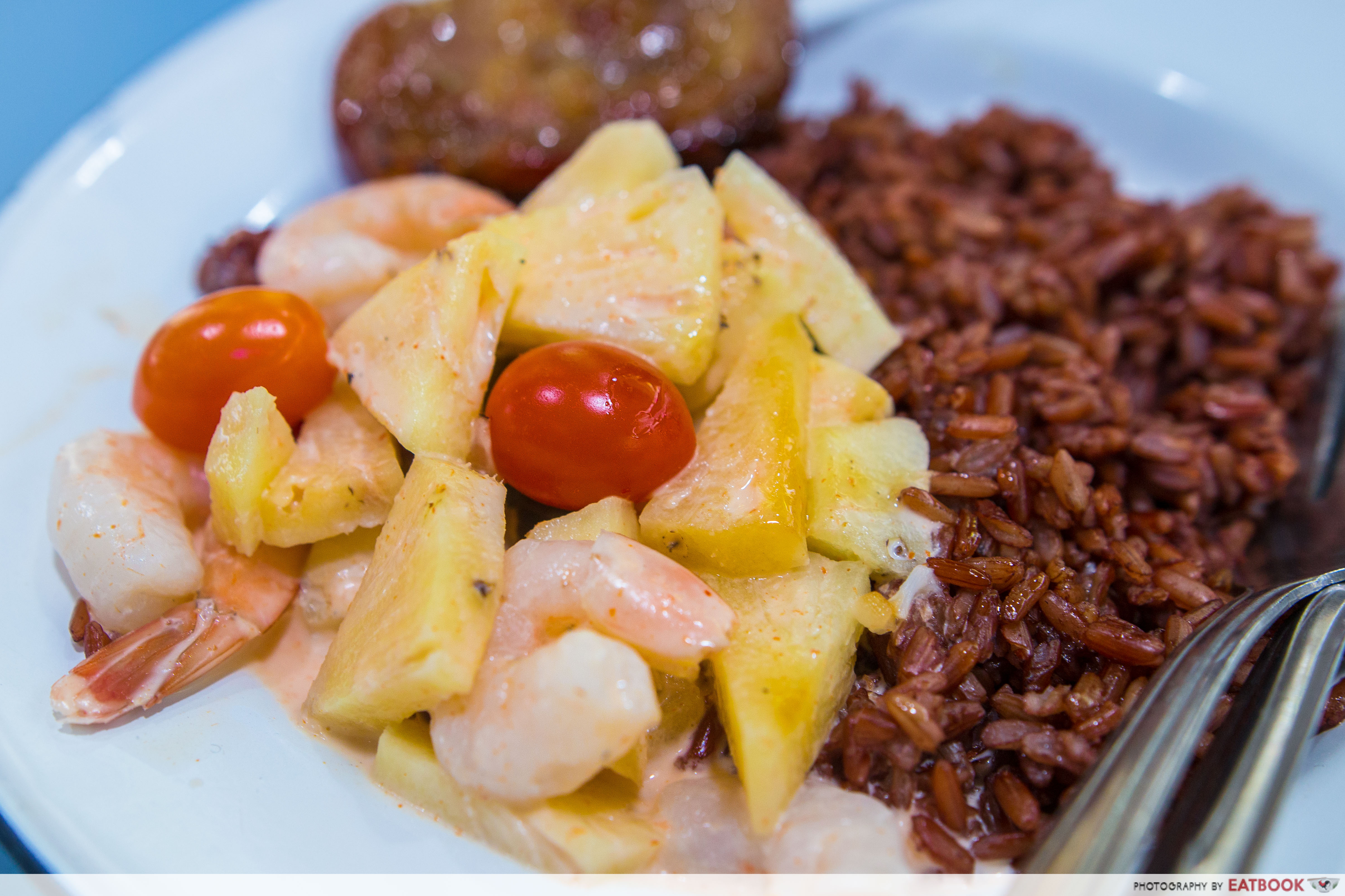 Basil & Mint - Pineapple Prawn Curry