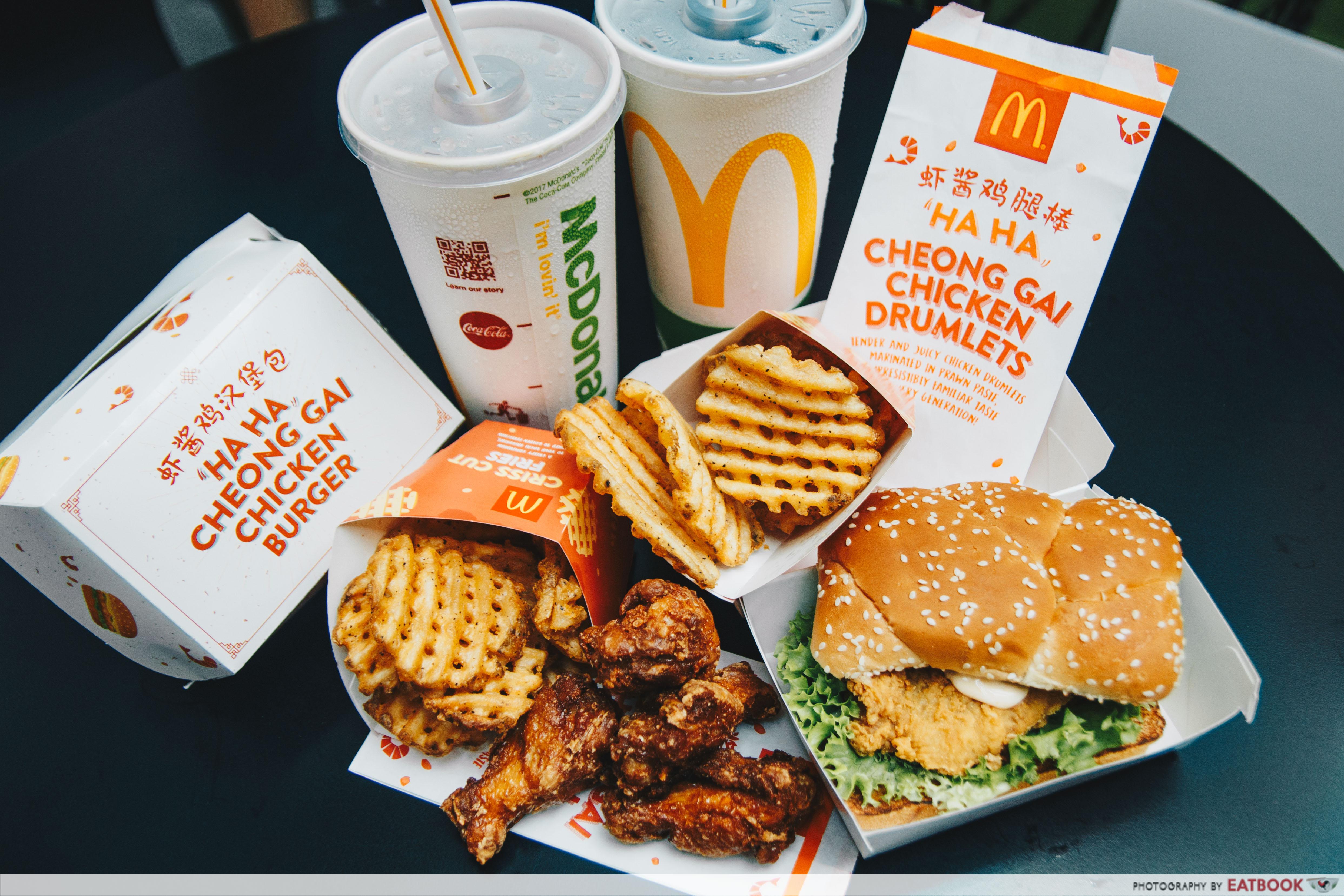 Har Cheong Gai Burger - Flatlay
