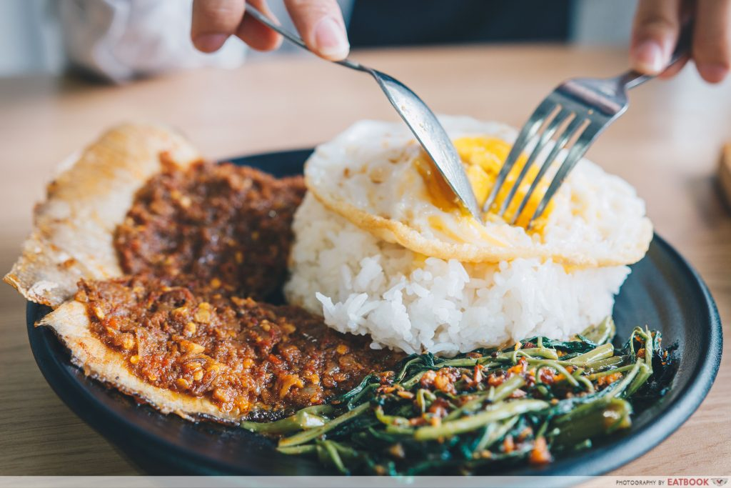 Jiao cai hotplate - sambal stingray rice