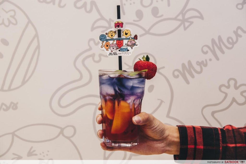 Mr Men and Little Miss Cafe Butterfly Pea Flower Momo Juice