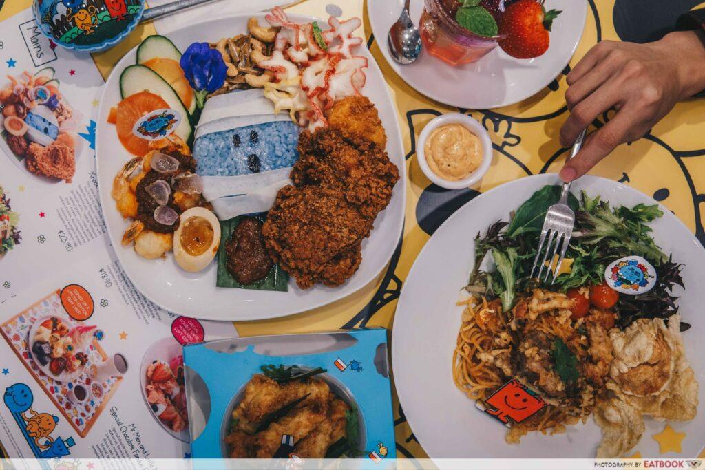 Mr Men and Little Miss Cafe Food