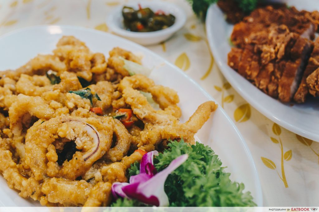 Penang Seafood Restaurant - Fried Sotong With Salted Egg