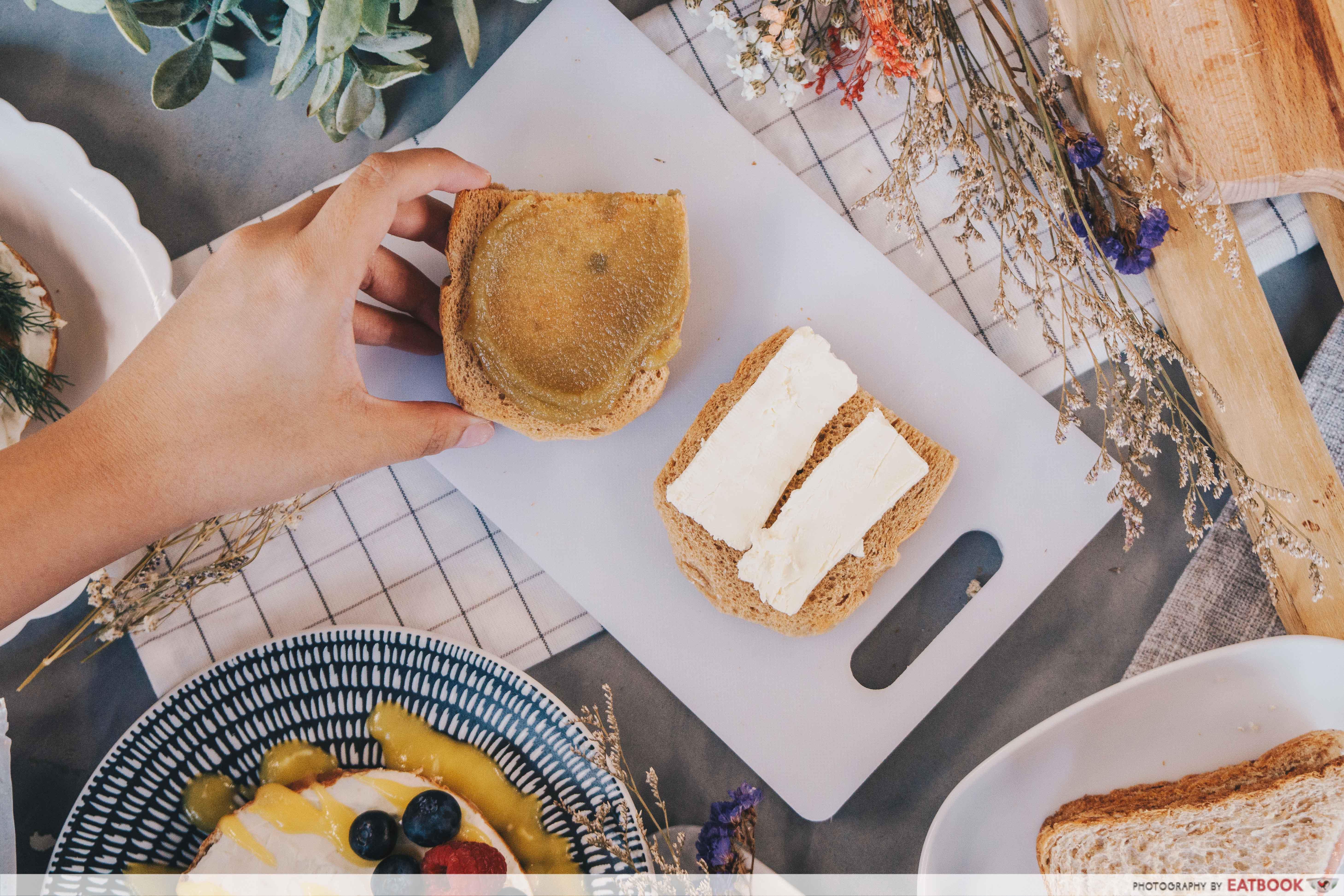 Quick Breakfast - Kaya Cheese Toast