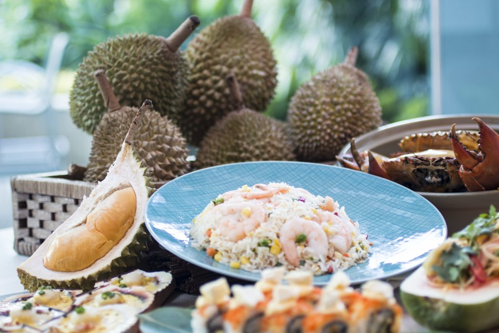 durian buffet the line shangri-la singapore