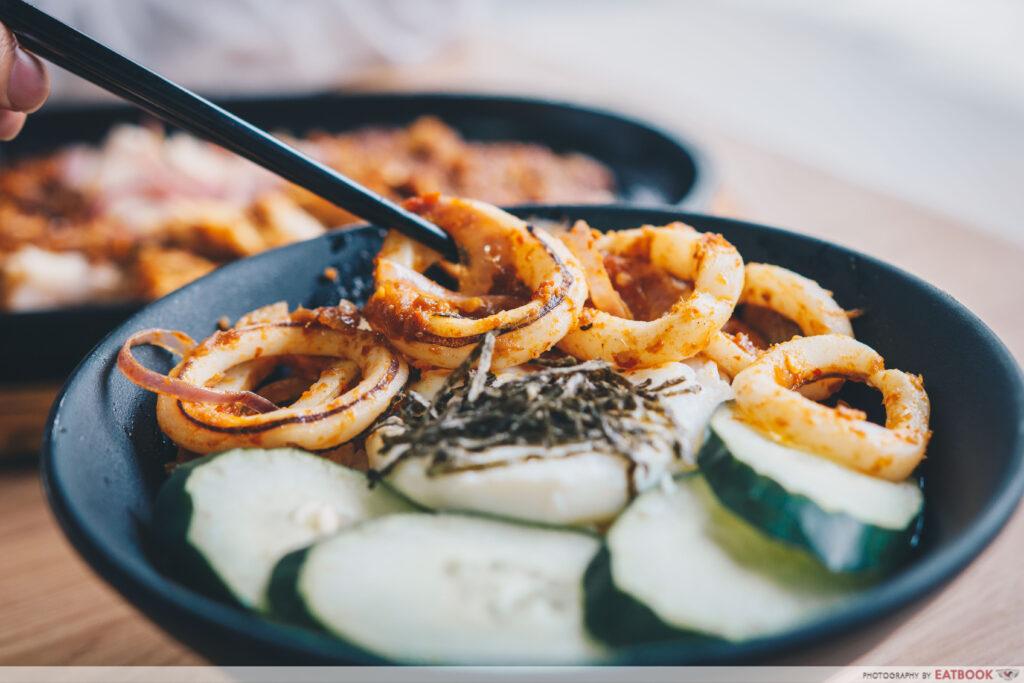 jiao cai hotplate - sambal sotong