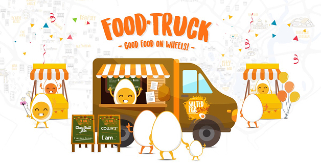 salted egg food truck