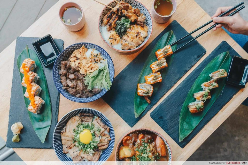 Free Dishes Maybank Flaming Don Flatlay-min