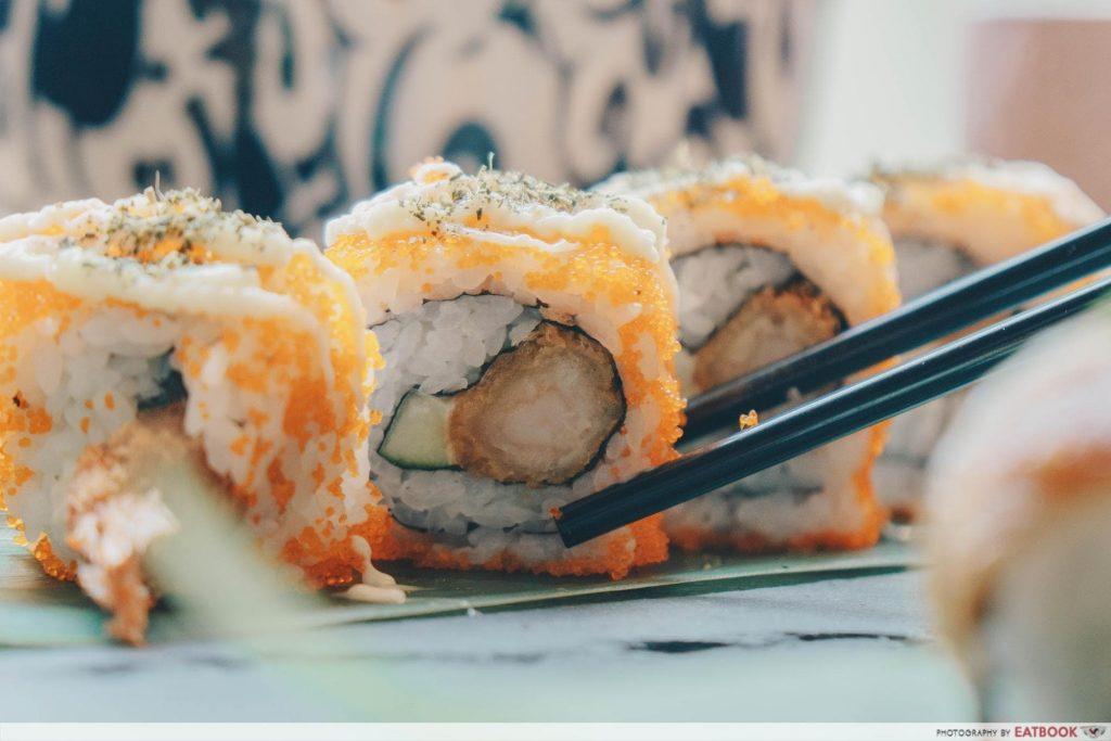 Free Dishes Maybank Flaming Don Maki Sushi