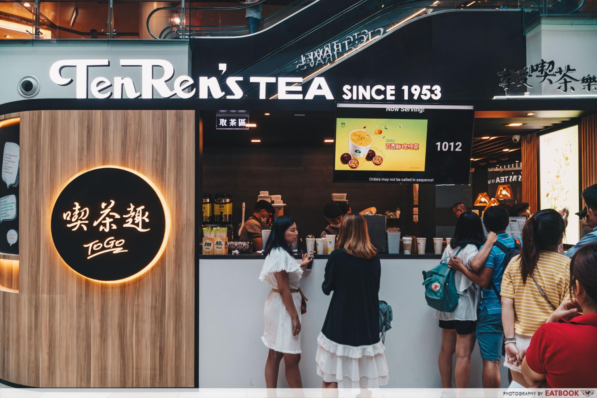 New Restaurants August 2018 - Ten Ren Tea Ambience