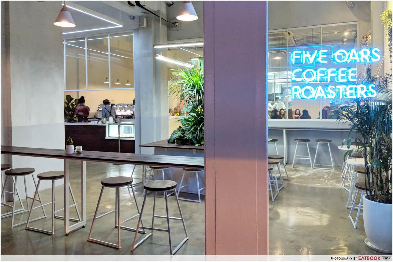 New Restaurants September 2018 - Five Oars Coffee Roasters Ambience