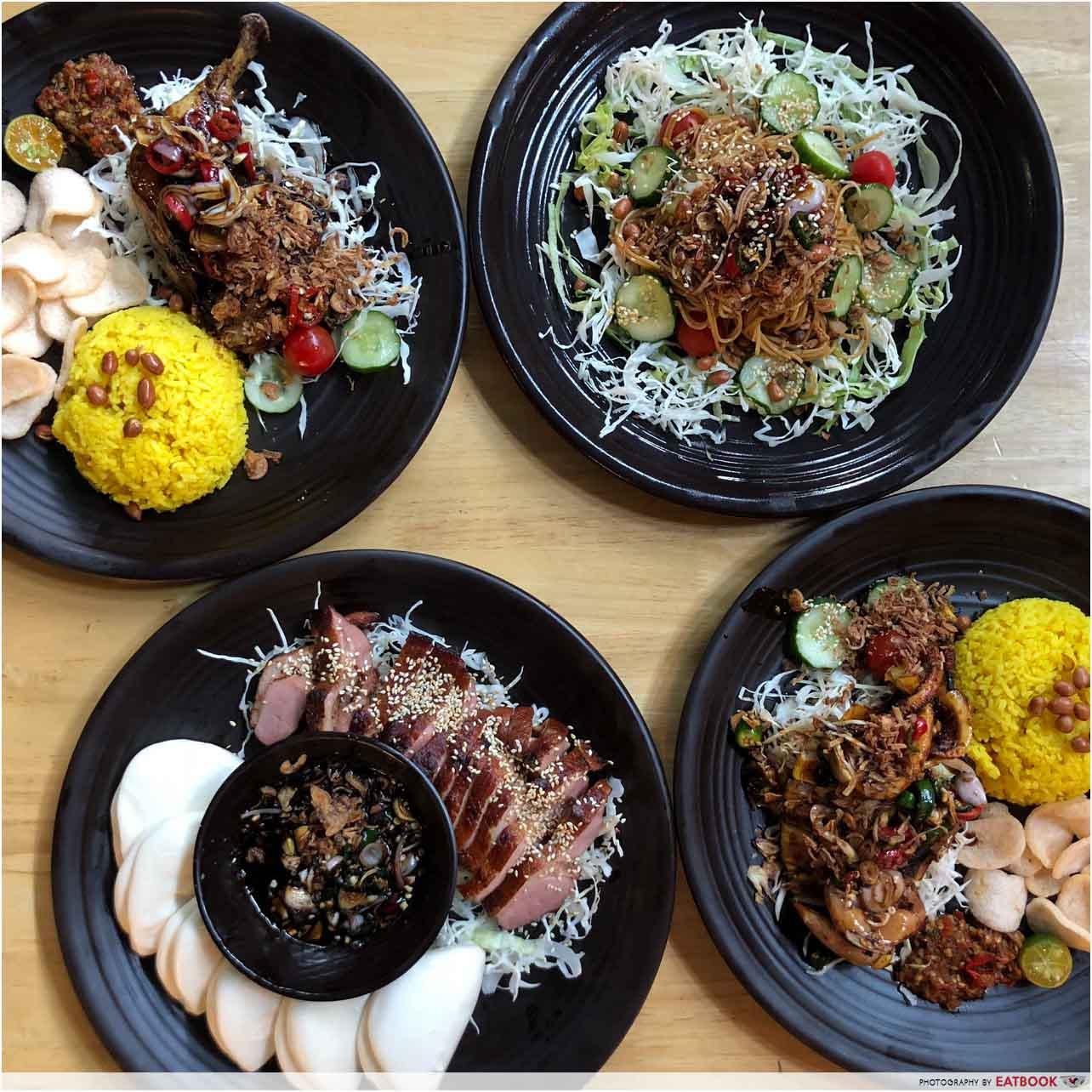 New Restaurants September 2018 - Warung K Flatlay