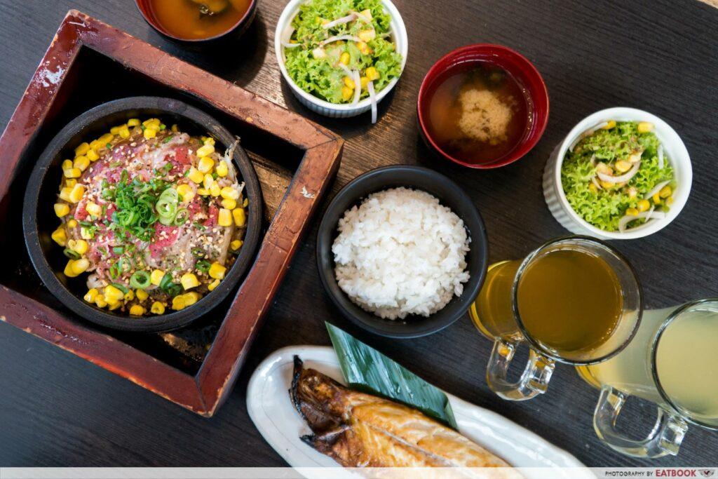 Star Vista Lunch Deals Watami Flatlay
