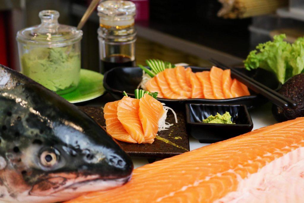 $1 Salmon Sashimi One Sushi Yishun
