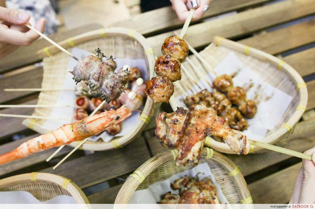 Aljunied Food Places - The Skewer Bar