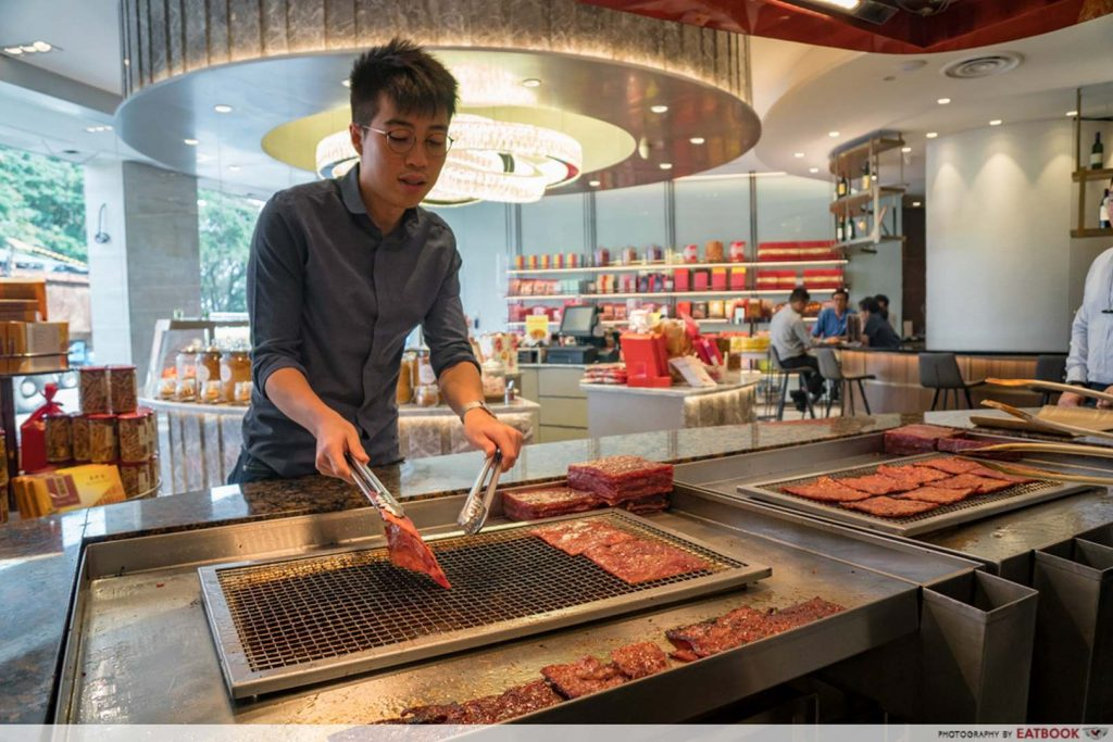 Bee Cheng Hiang Grillery grill your own bak kwa
