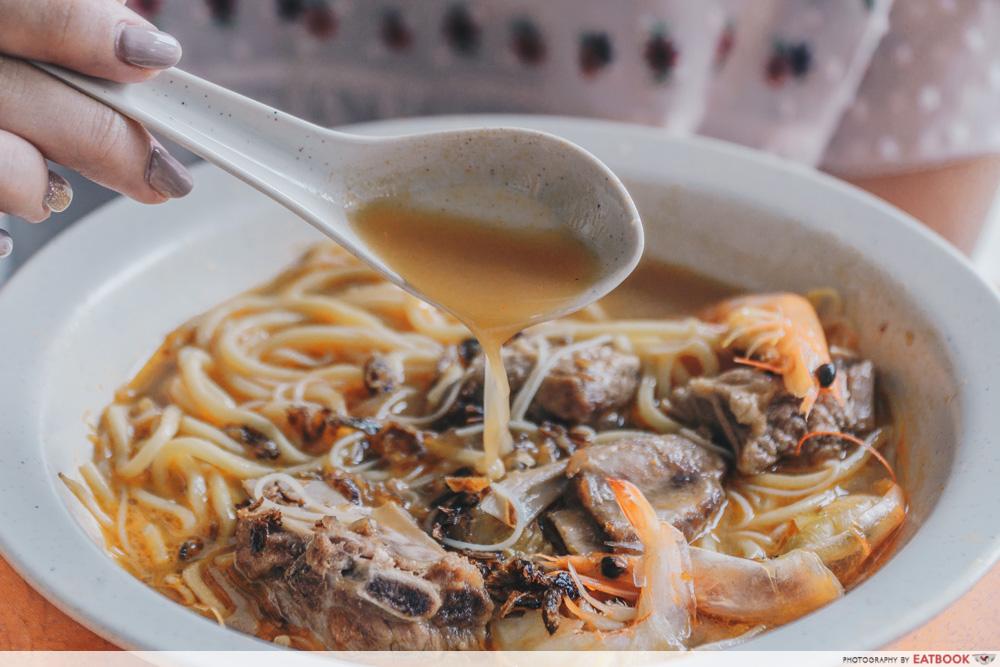 Big Prawn Noodles - Pork Rib Prawn Noodle Broth