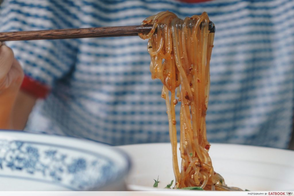 Mademoiselle Tang Noodle Ingredients Hot and Sour Noodles