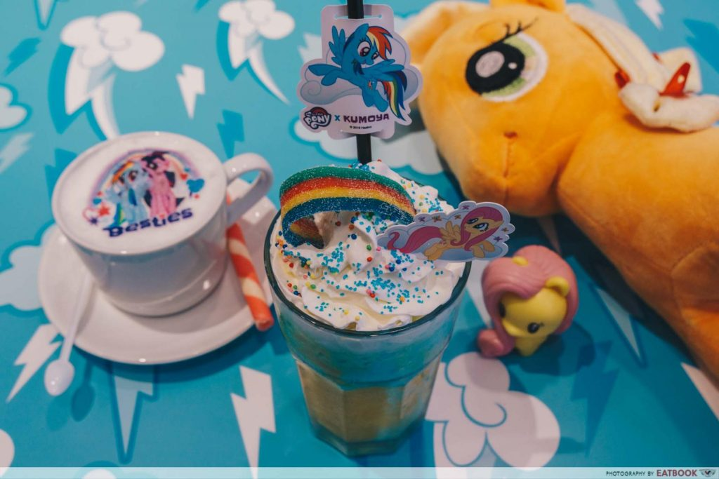 My Little Pony Cafe Friendship is Magic Mango Milk Frappe with Magic Rainbow Candy Band