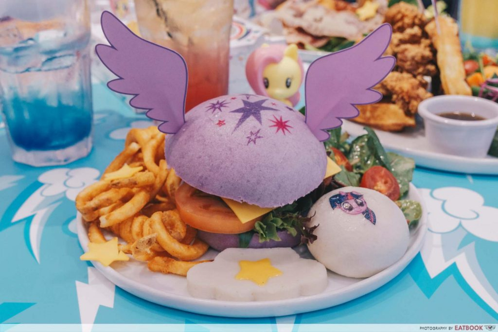 My Little Pony Cafe Twilight Sparkle Soaring Skies Chicken Katsu Burger