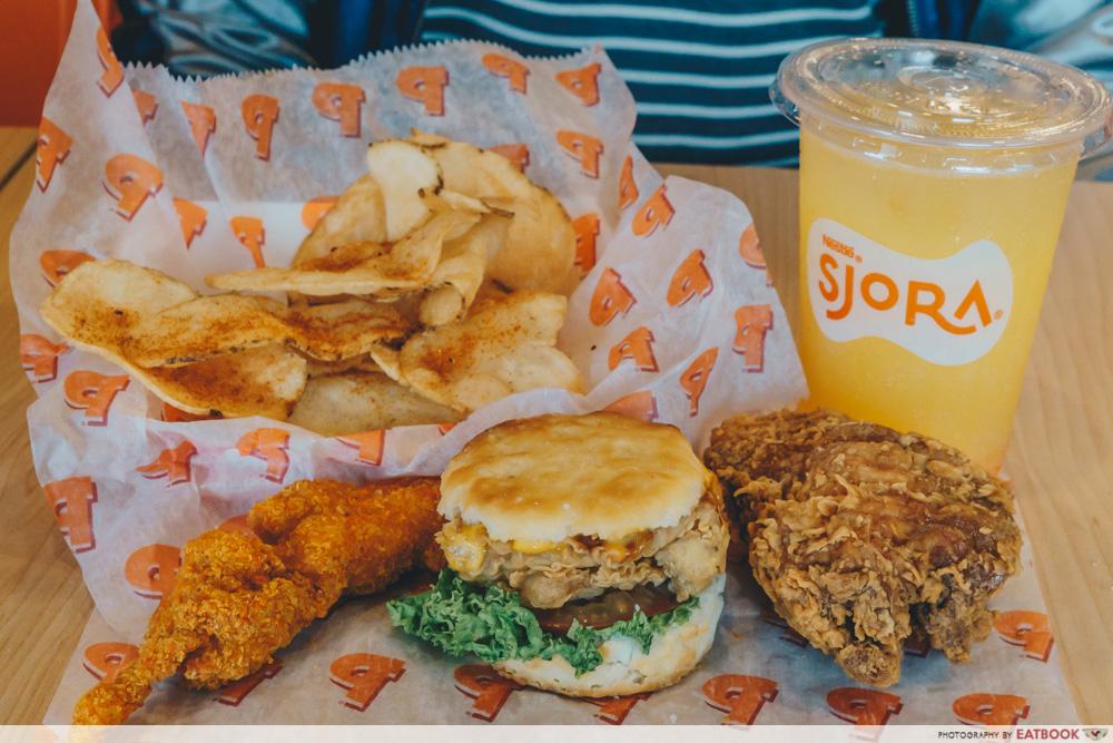 Popeyes Biscuit Burger Star Box