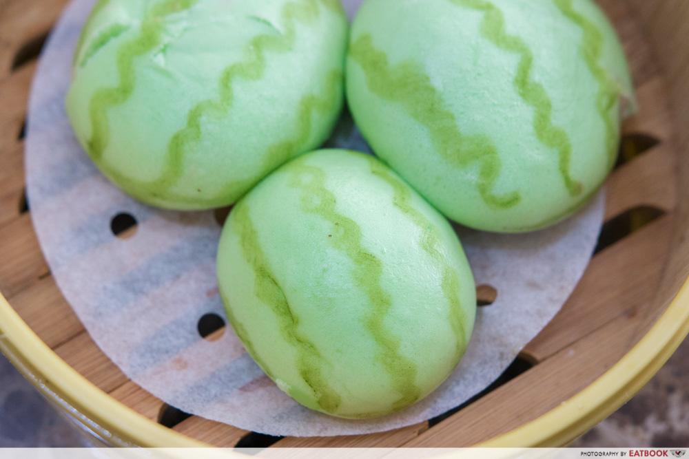 Zi Yean Bistro - Cream Of Yam In Watermelon Bun