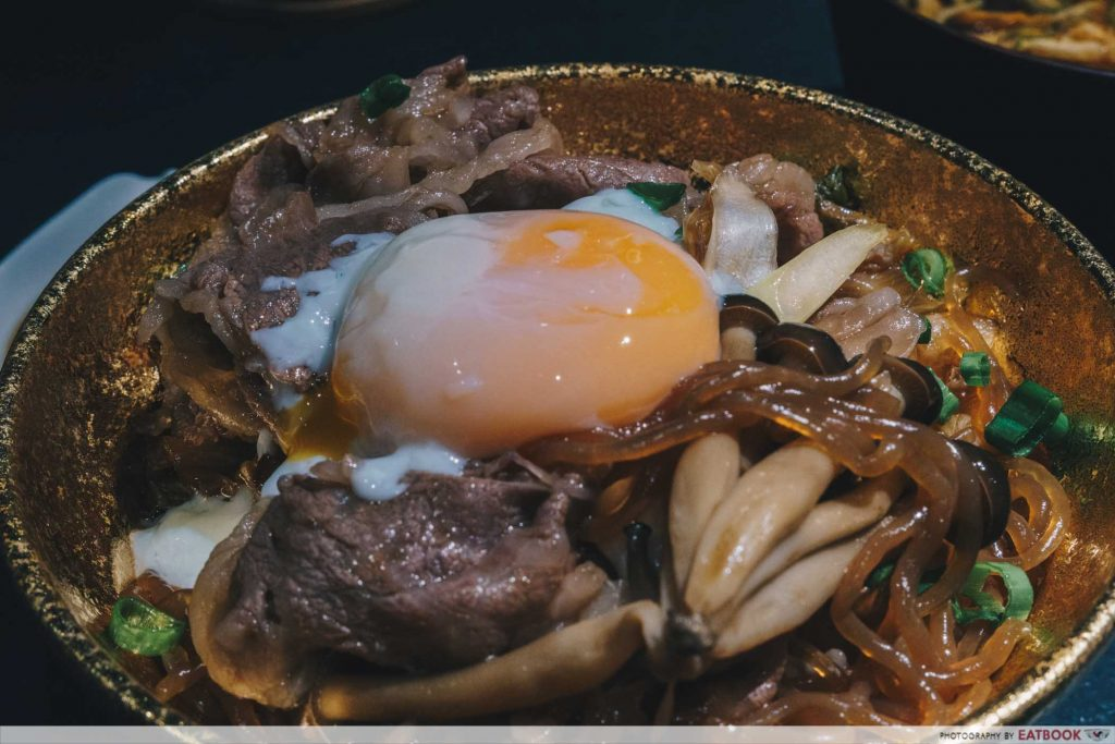 Beef Sukiyaki Don Keisuke wagyu with egg