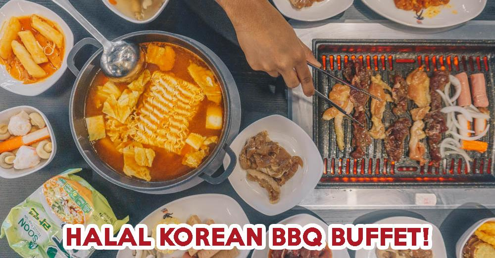 Korean BBQ spread