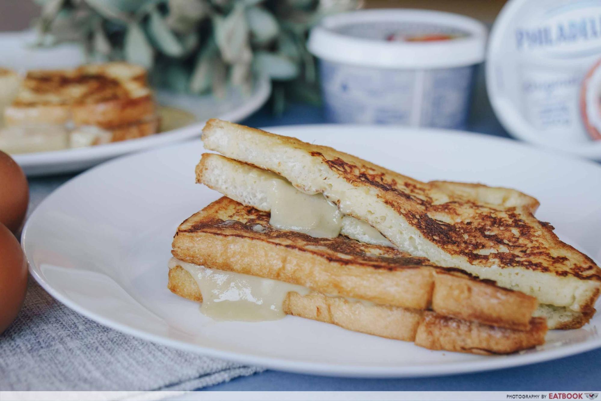 Easy Breakfast Toast Cream Cheese Kaya Toast with French Toast