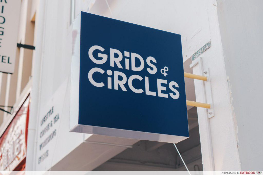 Grids and Circles signboard