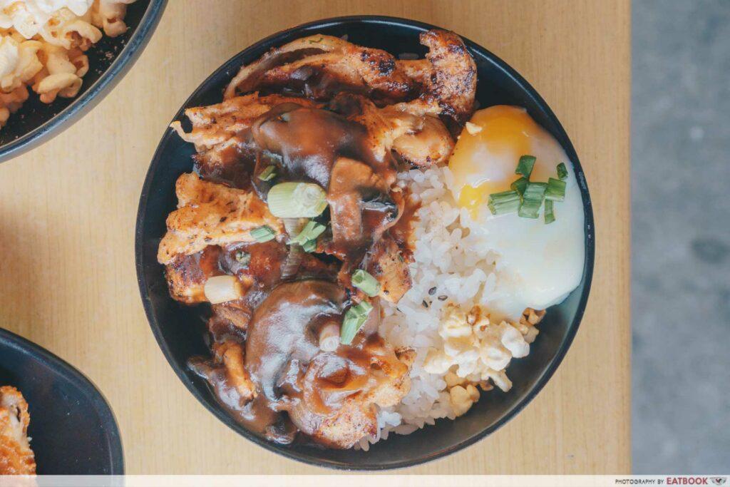 Indulge - chicken chop bowl