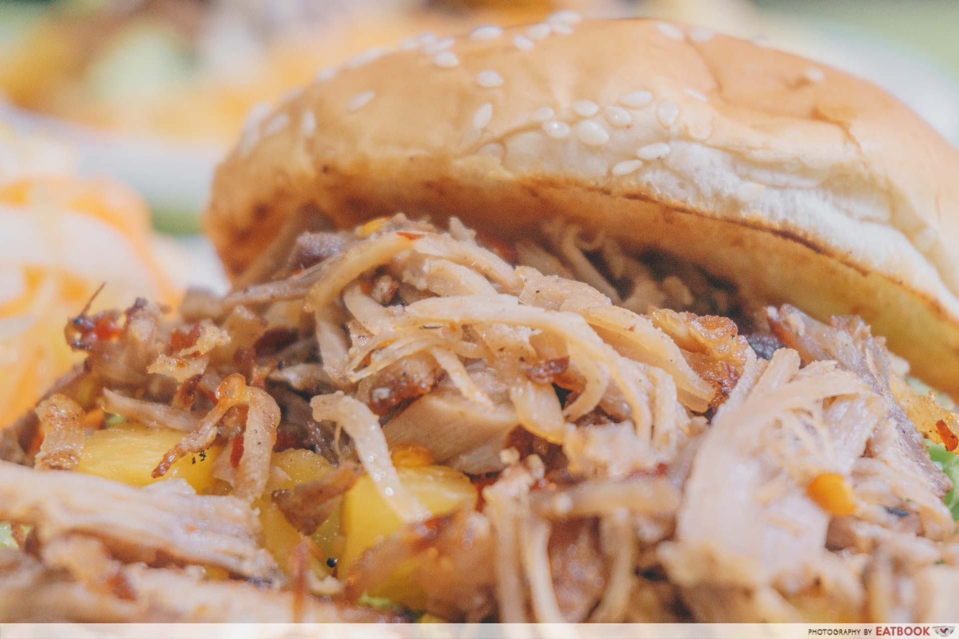Oinkers & Buns - Pulled Pork Close Up