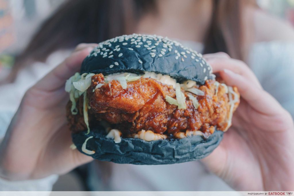Wild Blooms korean chicken burger