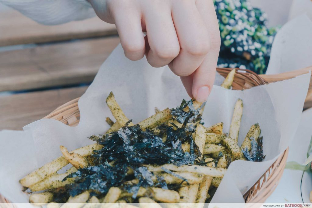 Wild Blooms matcha seaweed fries